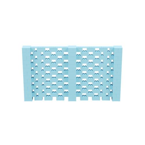 12' x 7' Light Blue Open Stagger Block Wall Kit