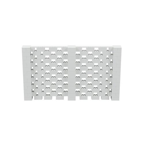 12' x 7' Light Gray Open Stagger Block Wall Kit