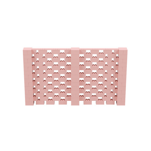 12' x 7' Pink Open Stagger Block Wall Kit