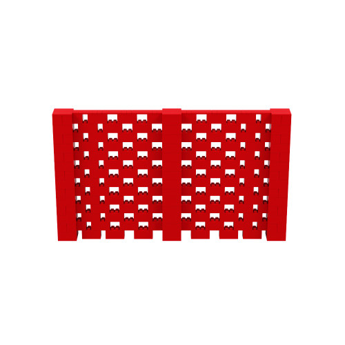12' x 7' Red Open Stagger Block Wall Kit