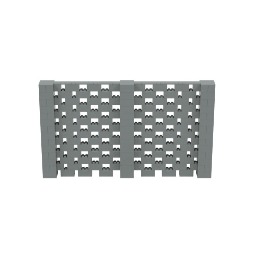 12' x 7' Silver Open Stagger Block Wall Kit