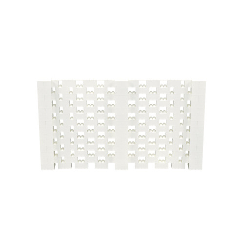 12' x 7' Translucent Open Stagger Block Wall Kit