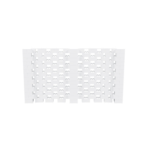 12' x 7' White Open Stagger Block Wall Kit