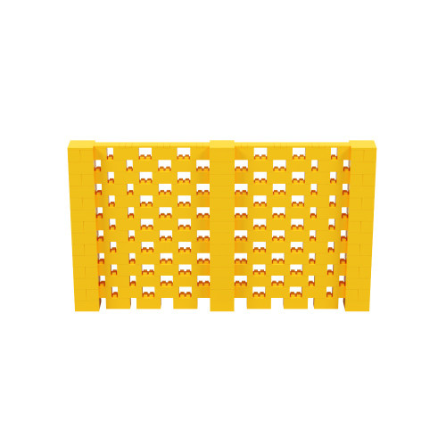 12' x 7' Yellow Open Stagger Block Wall Kit