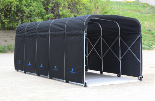 8' Wide Portable Equipment Shelter With Flooring