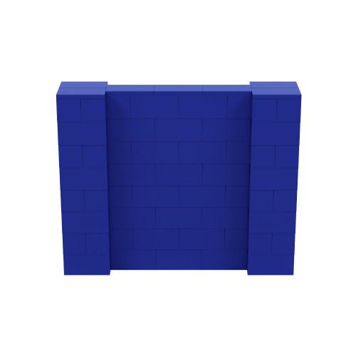 5' x 4' Blue Simple Block Wall Kit