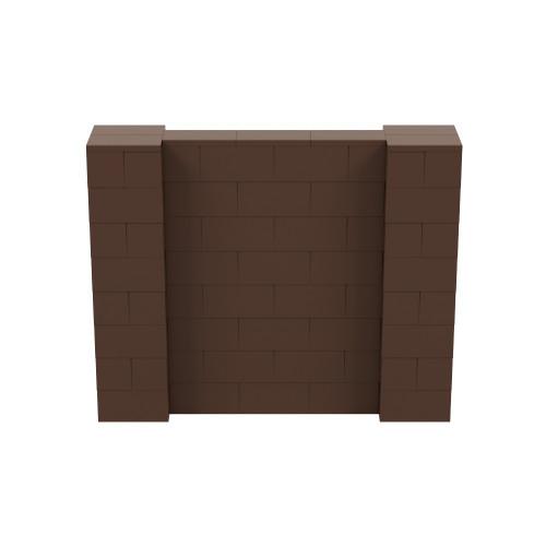 5' x 4' Brown Simple Block Wall Kit