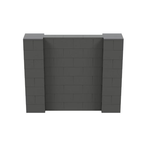 5' x 4' Dark Gray Simple Block Wall Kit