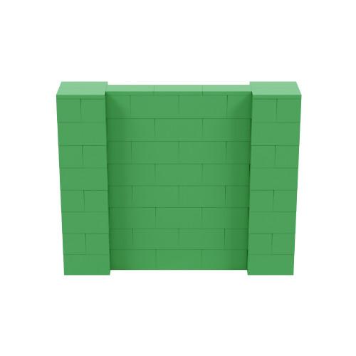 5' x 4' Green Simple Block Wall Kit