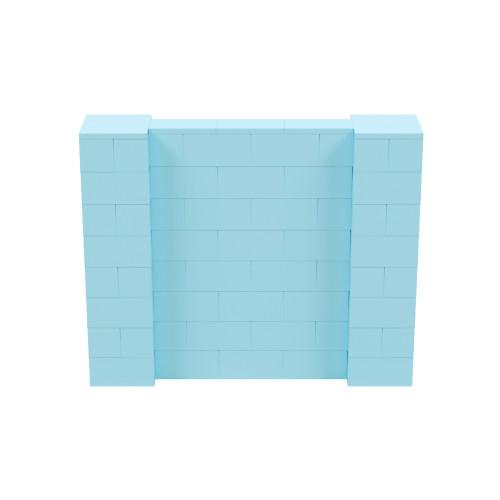 5' x 4' Light Blue Simple Block Wall Kit