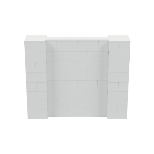 5' x 4' Light Gray Simple Block Wall Kit