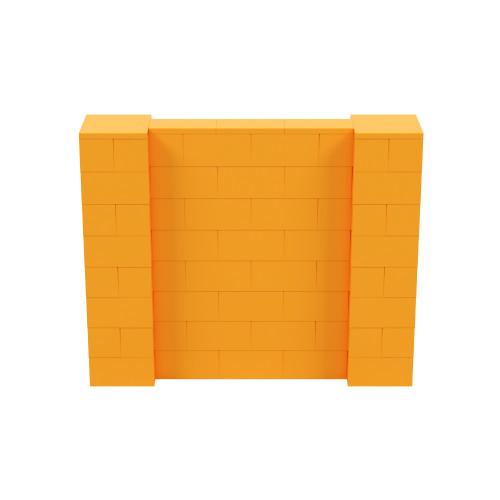 5' x 4' Orange Simple Block Wall Kit