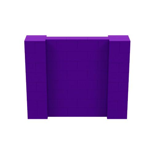 5' x 4' Purple Simple Block Wall Kit