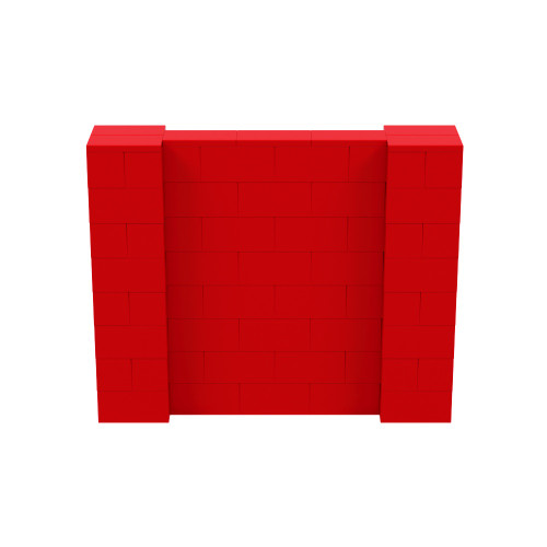 5' x 4' Red Simple Block Wall Kit
