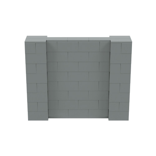 5' x 4' Silver Simple Block Wall Kit