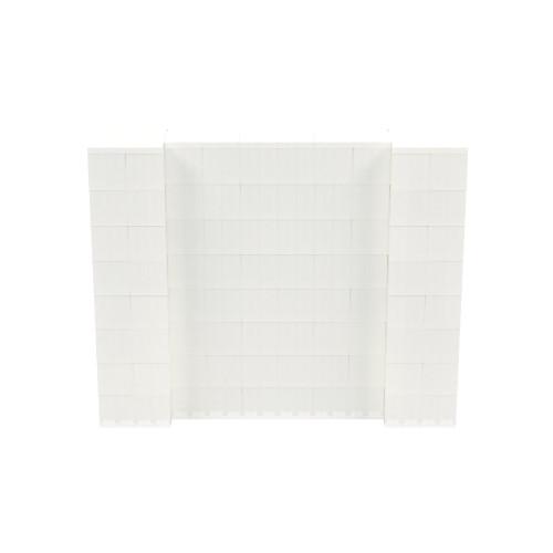 5' x 4' Translucent Simple Block Wall Kit