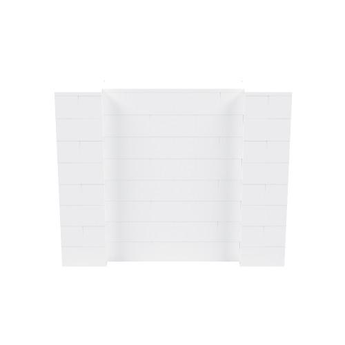 5' x 4' White Simple Block Wall Kit