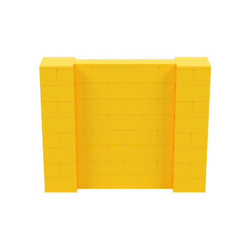 5' x 4' Yellow Simple Block Wall Kit
