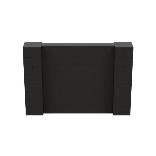 6' x 4' Black Simple Block Wall Kit