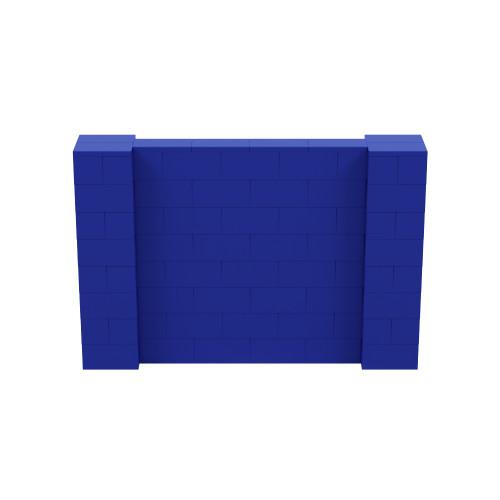 6' x 4' Blue Simple Block Wall Kit