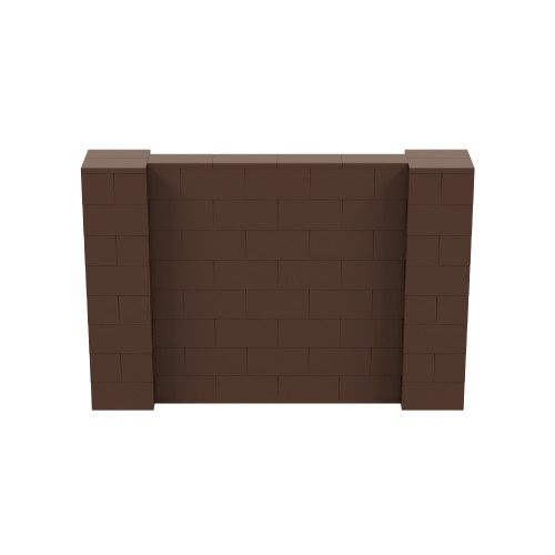 6' x 4' Brown Simple Block Wall Kit