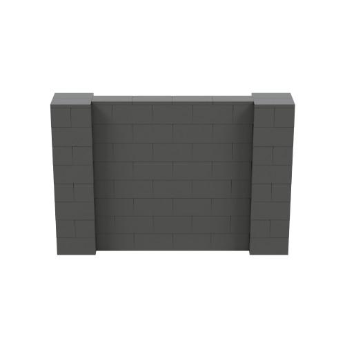 6' x 4' Dark Gray Simple Block Wall Kit