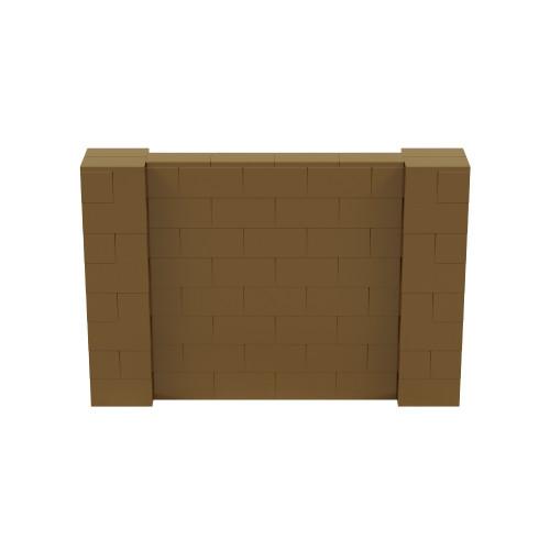 6' x 4' Gold Simple Block Wall Kit