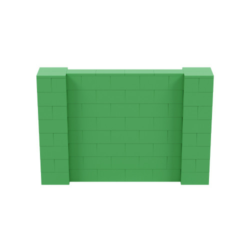 6' x 4' Green Simple Block Wall Kit