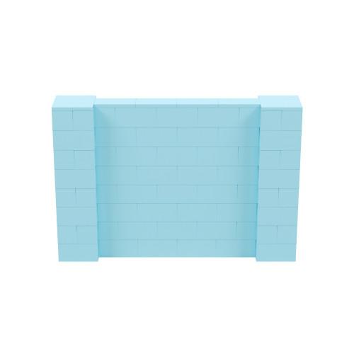 6' x 4' Light Blue Simple Block Wall Kit