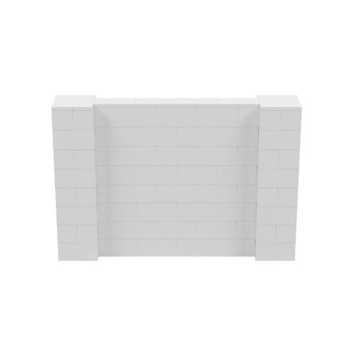 6' x 4' Light Gray Simple Block Wall Kit