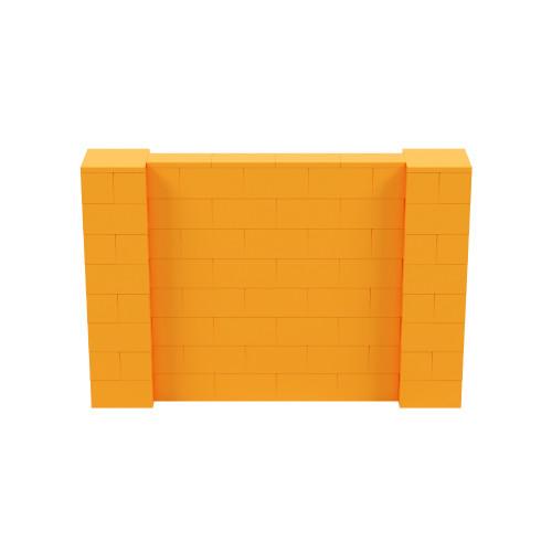 6' x 4' Orange Simple Block Wall Kit