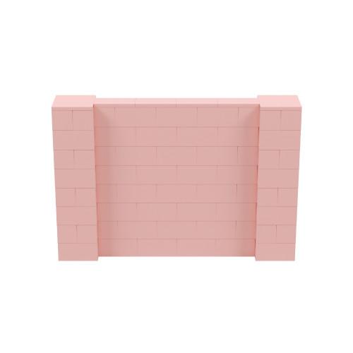 6' x 4' Pink Simple Block Wall Kit