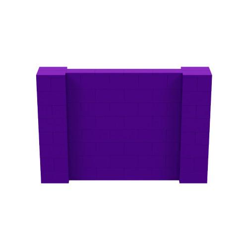 6' x 4' Purple Simple Block Wall Kit