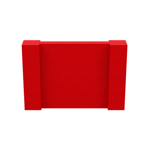 6' x 4' Red Simple Block Wall Kit