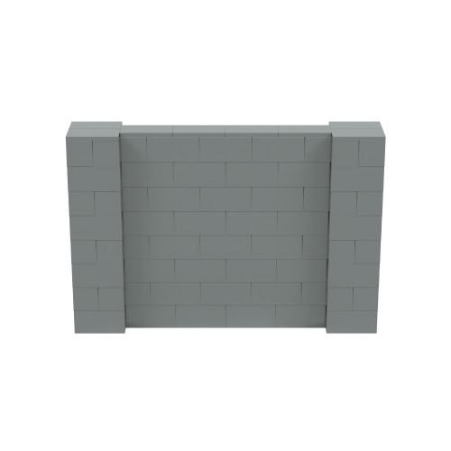 6' x 4' Silver Simple Block Wall Kit