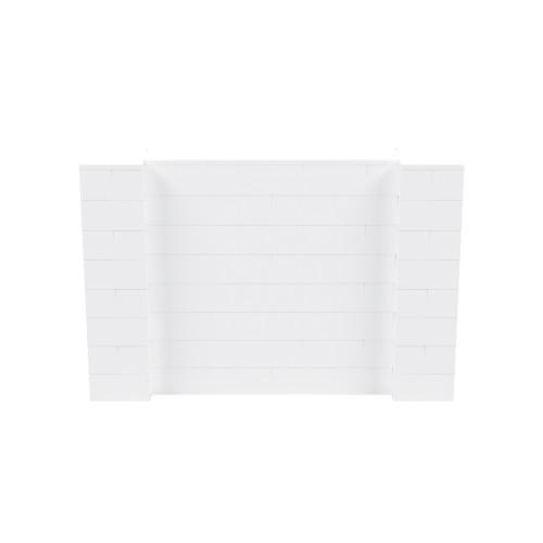 6' x 4' White Simple Block Wall Kit
