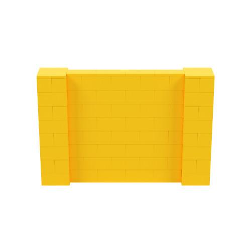 6' x 4' Yellow Simple Block Wall Kit