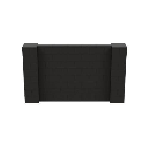 7' x 4' Black Simple Block Wall Kit