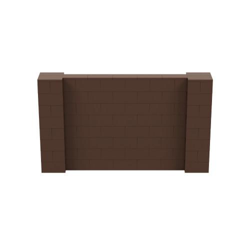 7' x 4' Brown Simple Block Wall Kit