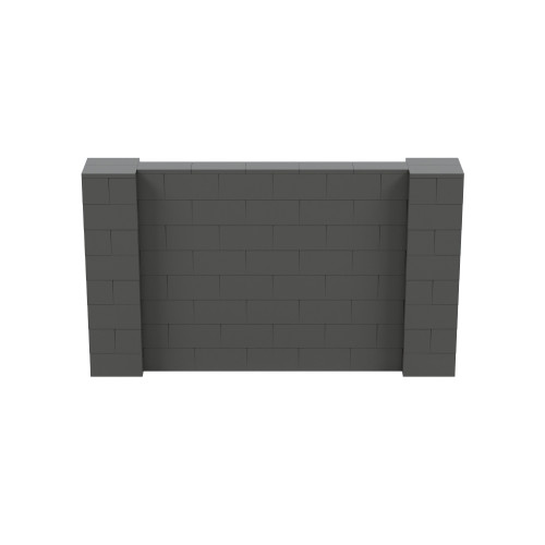 7' x 4' Dark Gray Simple Block Wall Kit