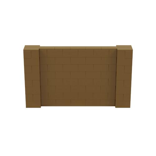 7' x 4' Gold Simple Block Wall Kit