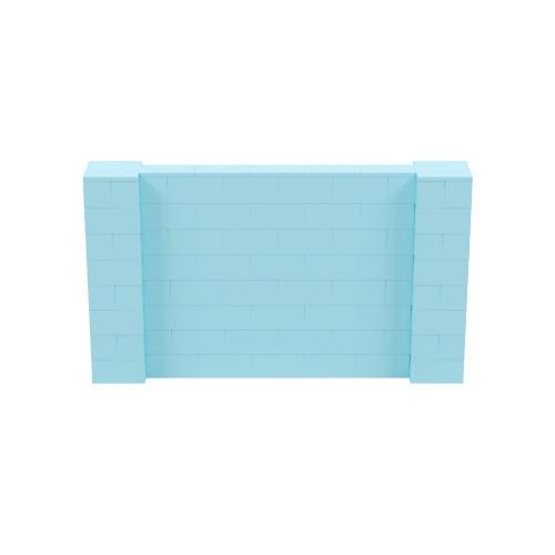 7' x 4' Light Blue Simple Block Wall Kit