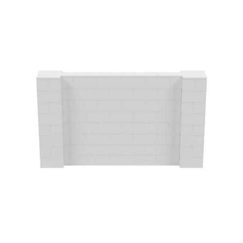 7' x 4' Light Gray Simple Block Wall Kit
