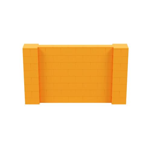7' x 4' Orange Simple Block Wall Kit