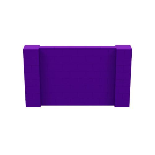 7' x 4' Purple Simple Block Wall Kit