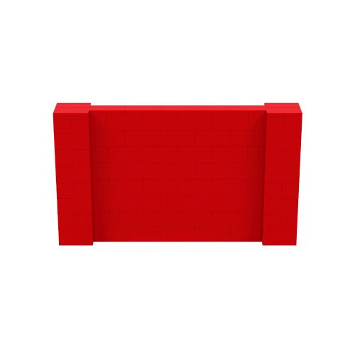 7' x 4' Red Simple Block Wall Kit