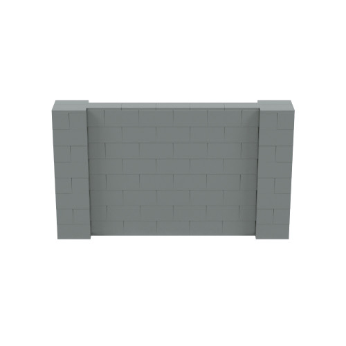 7' x 4' Silver Simple Block Wall Kit