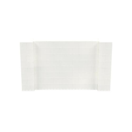 7' x 4' Translucent Simple Block Wall Kit