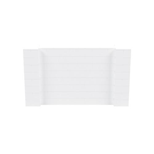7' x 4' White Simple Block Wall Kit