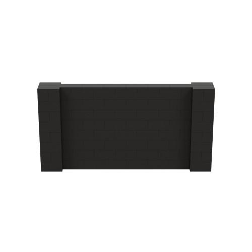 8' x 4' Black Simple Block Wall Kit
